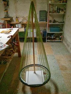 estructura del rbol de navidad y portal de beln reciclado
