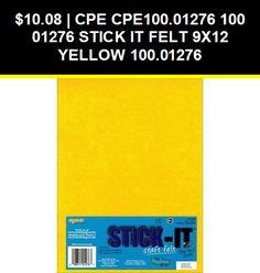 Stick It Felt 9X12-Yellow