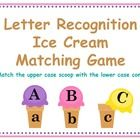 ICE CREAM LETTER RECOGNITION.  This is a fun ice cream matching game. children will need to match the ice cream scoop with the cone.  you will reci...