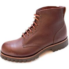 107F Brown Zug Grain Field Boot