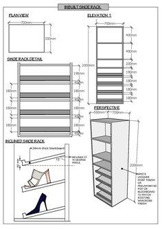 Furniture design Various Wardrobe Room, Wardrobe Design Bedroom, Bedroom Cupboard Designs, Walk In Closet Design, Closet Designs, Small Furniture, Furniture Design, Shoe Cabinet Design, Bedroom Drawing