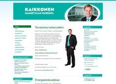 Antti Kaikkonen kertoo kotisivuillaan työstään kansanedustajana.