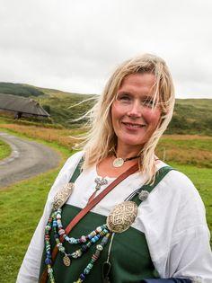Hege Anita Eilertsen at the Lofotr Viking Museum. http://paganroots.tumblr.com/