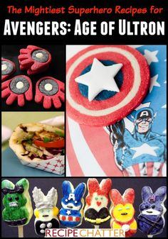 Avengers Recipes - Here are some of my favorite superhero recipes to make in honor of the Avengers. I hope you like them!