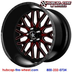 American Force Fallout FP5 Black w/ black and red removable face plate wheels