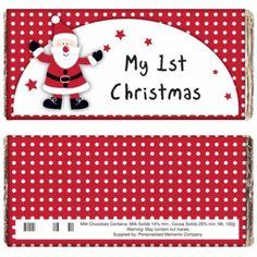 Personalised Christmas Chocolate Bar - Spotty Santa