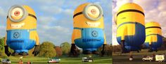 Minion hot air balloons! How funny would it be to step outside and see this in the sky?