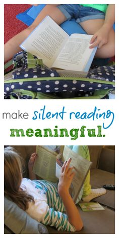 Blog post about how to make silent reading more meaningful with information and photos