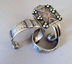 Khal khal argento Bangle Tuareg Amazigh tinta argento Touka