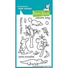 Critters Down Under Clear Stamps (13 cute Australian stamps • Kangaroo, Koala, Crocodile) Lawn Fawn (LF391)
