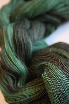 Artyarns 1 Ply Lace Cashmere Knitting Yarn in color 119 Forest Greens