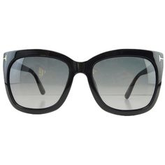 Pre-owned New Tom Ford Tf 9313 01b Black Sunglasses Gradient Lens Made... ($120) ❤ liked on Polyvore featuring accessories, eyewear, sunglasses, black gradient, black glasses, tom ford sunglasses, tom ford, black eyewear y black gradient sunglasses