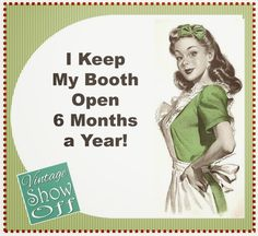 Vintage Show Off: A Short Term Booth Junk business advice