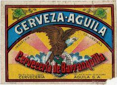 1987 Etiquetas de Cervezas Colombianas: AGUILA. Mucho más sobre nuestra hermosa Colombia en www.solerplanet.com