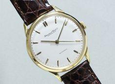 International Watch Co. 18KYG Cal.852 C1950'S #vintagewatch #vintageiwc