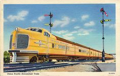 """Union Pacific M10000 Streamline Train (1930s). These were part of the """"City of ... """" fleet."""