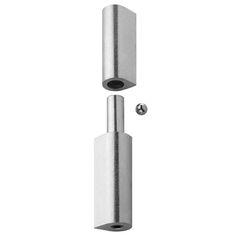 Herrajes para puertas: Pernio perfil gota regulable