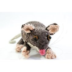 Australian Ringtail Possum Knitting pattern by heaventoseven Easy Baby Sewing Patterns, Animal Knitting Patterns, Stuffed Animal Patterns, Crochet Patterns, Softie Pattern, Unique Toys, Cross Stitch Bird, Knitted Animals, Australian Animals