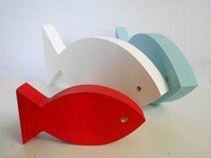 Modern Nautical Nursery   Wooden fish decor for by TheSeasideKids, $24.00