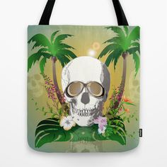 #Skull with #sunglasses a #Tote #Bag by nicky2342 - $22.00 Skulls, Reusable Tote Bags, Sunglasses, Sunnies, Shades, Skeletons, Eyeglasses, Glasses