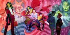DIbujo de Kevin Wada compuesto por las ilustraciones de las portadas de She-Hulk vol.3 #8, 9 y 10.