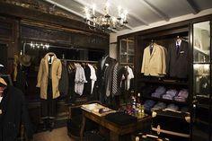 Dark wood gentlemans #closet