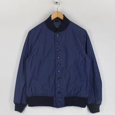 Navy Nyco Reversed Sateen Jacket | Engineered Garments | Peggs & son.