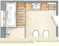 Distribucion Baños | Mejores 8 Imagenes De Banos Distribuciones En Pinterest Bathroom