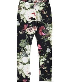 Niki - Winter Floral Jersey - molo classic leggings with print