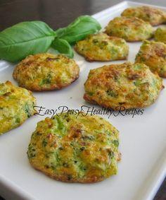 Low Carb Cheesy Broccoli Bites - Yummy and healthy too!  EasyPeasyHealthyRecipes.com