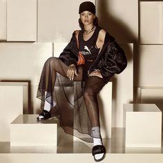 Rihanna Puma Fur Slides ad campaign