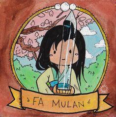 Mulan - Signed Watercolor Print