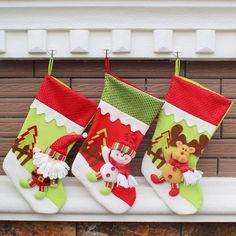 1 Pc Year Christmas Decorations Party Santa Claus Stocking Candy Socks Gifts
