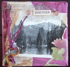 Discover... mixed media canvas