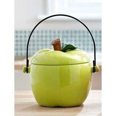 Green Apple Compost Crock