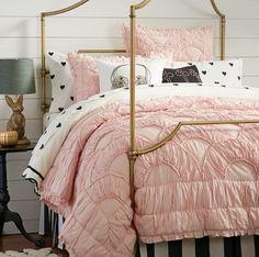 Precious powder pink little girls comforter & <3 sheets