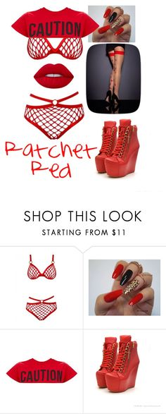 """Ratchet Red"" by sarahcanavan ❤ liked on Polyvore featuring Lime Crime"
