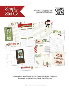 Free Classic Christmas Planner Printables from Simple Stories