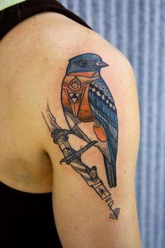 Bird tattoo by David Hale