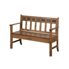Sunny Designs Sedona Bench With Storage