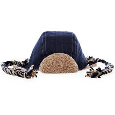 Made by Myang. Denim aviator with faux sheepskin lining and braided yarn ties. Available in month, month, year, and year sizes. Also available in a brown faux leather variation. Baby Winter Hats, Baby Hats, Skin Line, Aviator Hat, Childrens Shoes, Toddler Outfits, Winter Outfits, Kids Fashion, Cap