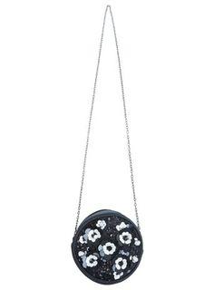 Mono 3D Flower Round Bag