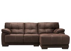 This Castin 2-piece microfiber sectional sofa makes your job as a decorator as easy as ever! The plump cushions, spacious seating and oh-so-touchable microfiber are perfect for hours of relaxation. And with its neutral brown color, contrast topstitching and tufting detail, this sectional sofa also boasts a contemporary look that's versatile and stylish, too.