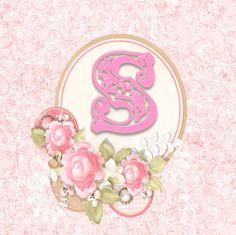 Alfabeto delicado con Rosas....S