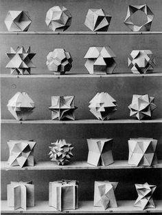 """Plates from the book: Max Bruckner, """"Vielecke und Vielflache"""
