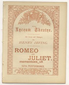 Shakespeare Theatre, Romeo And Juliet, Opera, Victorian, Frame, Picture Frame, Opera House, Frames