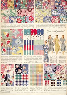 fashionable prints from Simpson's Spring and Summer catalog, 1945