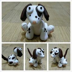 Dee Raa Arts polymer clay sculpey fimo premo dog doggy puppy