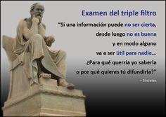 La parábola del triple filtro de Sócrates como protocolo de Comunicación | Tarjeta Sócrates | Artículo completo: http://sharingideas-josecavd.blogspot.com.es/2014/10/la-parabola-del-triple-filtro-de.html