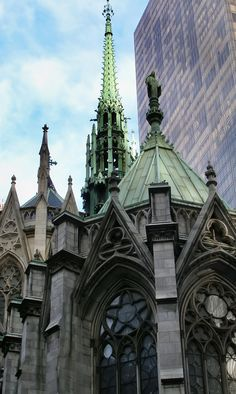 St. Patrick's Cathedral. Midtown Manhattan, New York, New York.